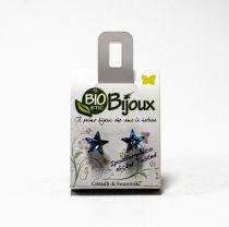 BIJOUX EARING STAR 10MM BLUE BERMUDE BE 41C22