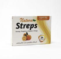 NATURA STREPS ORANGE AND VITAMIN C SUGAR FREE