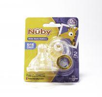 NUBY WIDE NECK NO-SPILL NUBY NIPPLE