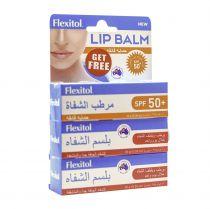 FLEXITOL LIP BALM X2 + LIP BALM SPF50