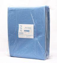 DISPOS BED SHEET BLUE 140 CM X 240 CM, (1 X 10) (276)