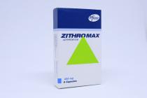 ZITHROMAX 250 MG CAPSULES 6 S