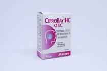 CIPROBAY HC OTIC DROPS 10ML