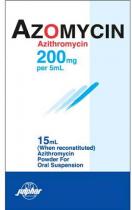 AZOMYCIN 200MG SUSPENSION 15ML